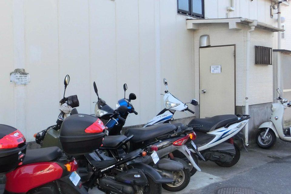 バイク専用の駐輪場